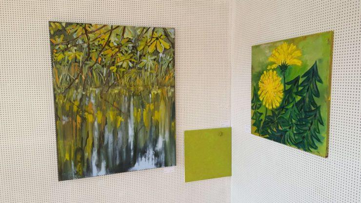 Vandspejlinger - Lars Stounbergs maleri på udstillingen i Rebbøl