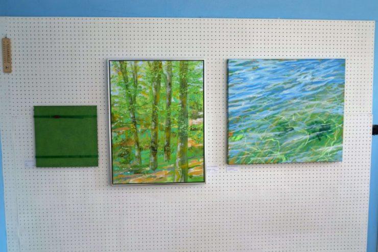 Malerier bøgeskov og vandspejlinger Lars Stounberg