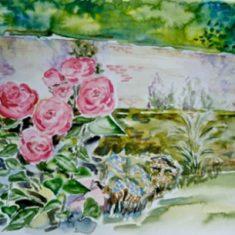 Titel: Roses akvarel 40 x 52 cm 2001 - Billedkunstner Odder Lars Stounberg