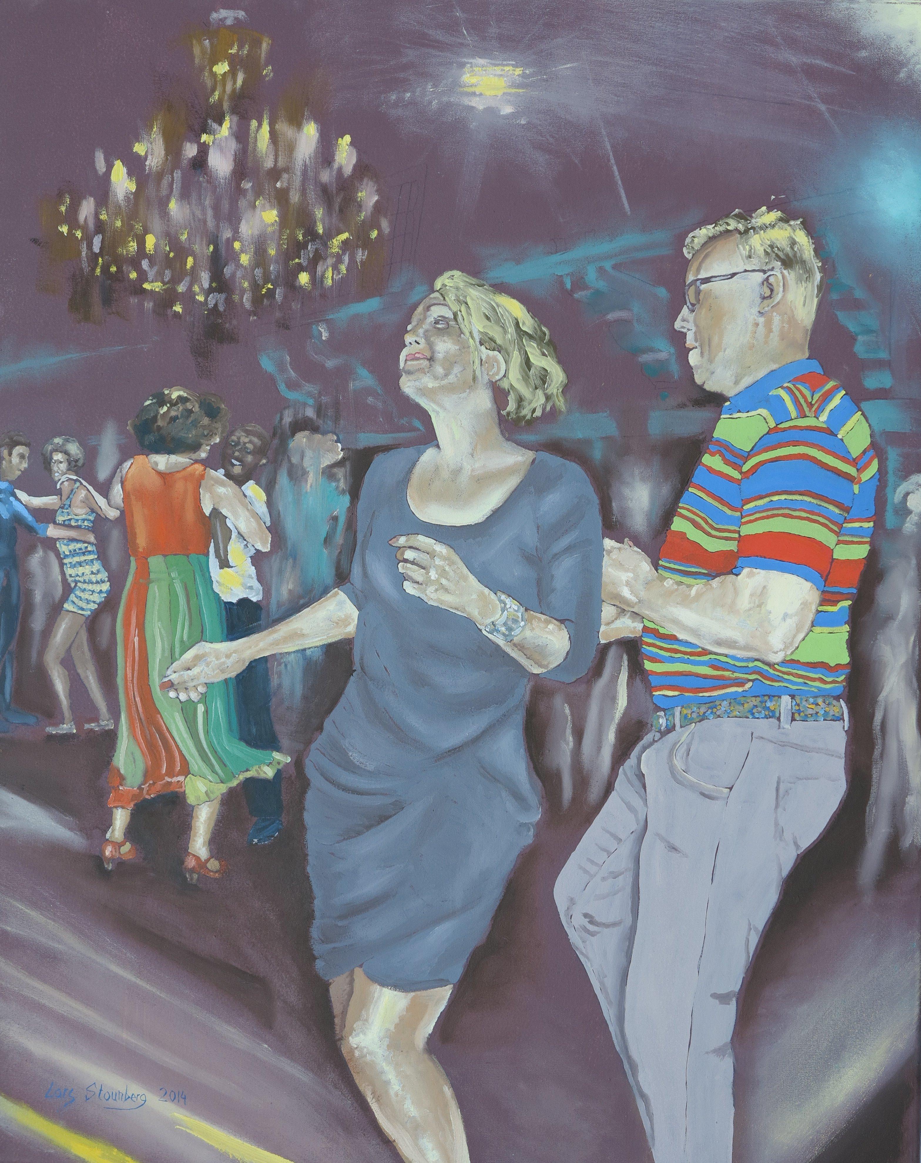 Farverig maleri - Salsadans 2014 - Billedkunstner Odder Lars Stounberg
