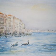 Titel: San Marco Venedig Akvarel 41 x 53 cm 2003 - Billedkunstner Odder Lars Stounberg