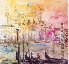 Kunstplakat - Santa María della Salute, Venezia Billedkunstner Odder Lars Stounberg