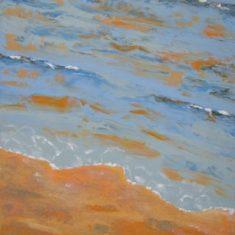 Titel: Saxild bølger acryl 120 x 80 cm 2006 - Billedkunstner Odder Lars Stounberg