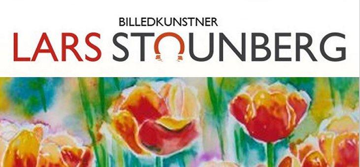 Akvarel tulipaner af billedkunstner Lars Stounberg