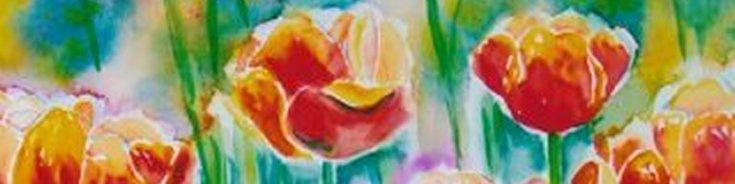 smal akvarel tulipaner Lars Stounberg