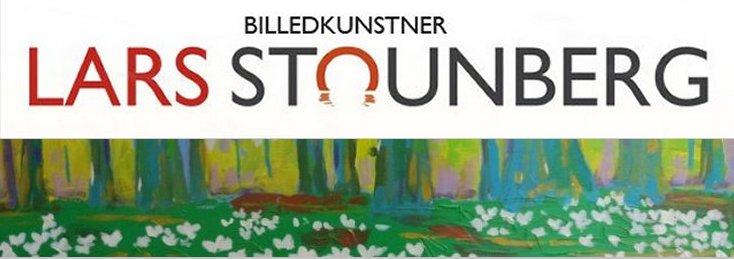 Maleri bøgeskov anemoner forår malet af billedkunstner Lars Stounberg