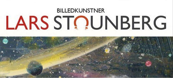 Malerier med kosmos planeter af billedkunstner Lars Stounberg