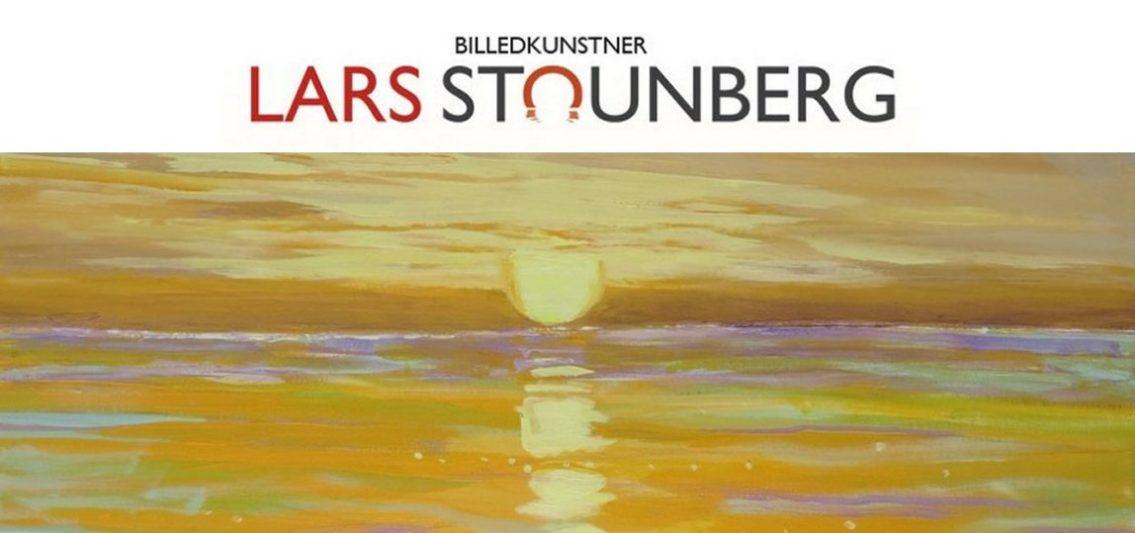 Maleri solopgang Ballehage ved Aarhus- Lars Stounberg februar 2015