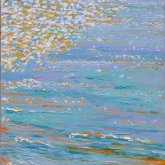 Titel: Solopgang1 Saxild acryl 100 x 60 cm 2006 - Billedkunstner Odder Lars Stounberg