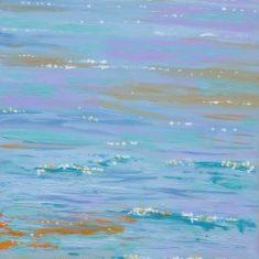 Titel: Solopgang2 Saxild acryl 100 x 60 cm 2006 - Billedkunstner Odder Lars Stounberg