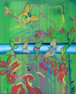 Maleri - Sommerfugl Billedkunstner Odder Lars Stounberg 2007