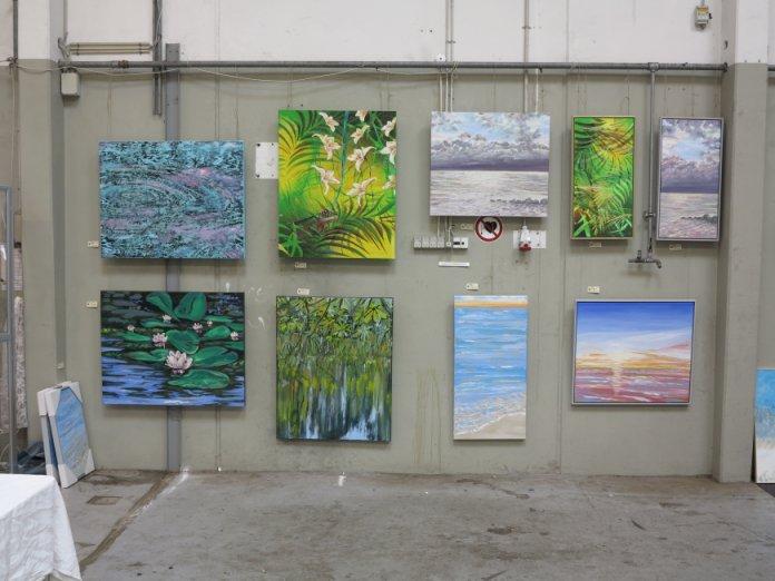 Malerier på udstilling i Helsingør Kunstforening 2015