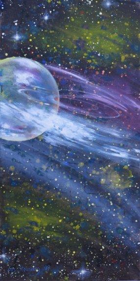 Hillerod Kunstdage 2013 - Lars Stounbergs stand - maleri planet