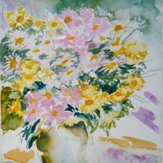 Titel: Stauder2 akvarel 38 x 32 cm 2001 - Billedkunstner Odder Lars Stounberg