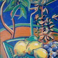 Titel: Still Life Lemon acryl 50x60 cm 2003 - Billedkunstner Odder Lars Stounberg