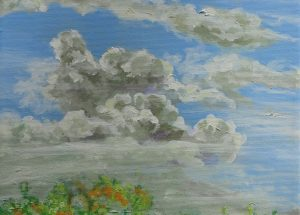 Maleri - Skyer 2012 - Billedkunstner Odder Lars Stounberg