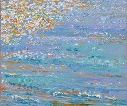 Havmaleri - Solopgang Holken Strand Odder - Billedkunstner Odder Lars Stounberg 2006