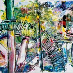 Billedkunstner Odder Lars Stounberg - Titel: Teknik gouache 50 x 71 cm 2001