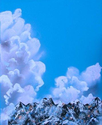 Maleri - Alperne - skyer - 2006 - Billedkunstner Odder Lars Stounberg