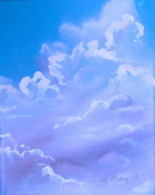 Maleri - skyer - Sommerhimmel 2007 - Billedkunstner Odder Lars Stounberg