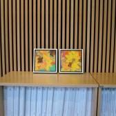 Udstilling i kunstforeninger - Torm - malerier efterårsblade 2011 - Billedkunstner Odder Lars Stounberg