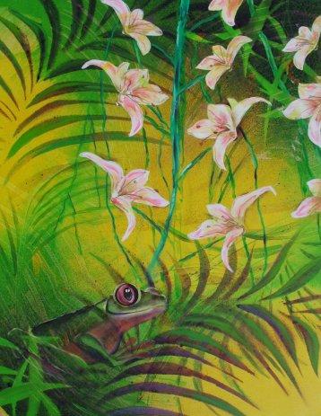 Moderne farverig maleri - Troperne 2011 - Billedkunstner Odder Lars Stounberg