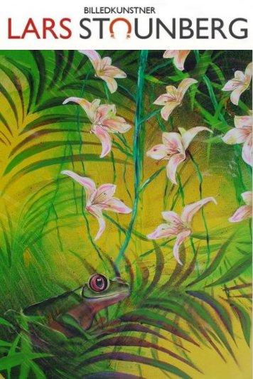 Maleri troperne - tropisk regnskov med frø - billedkunstner Lars Stounberg
