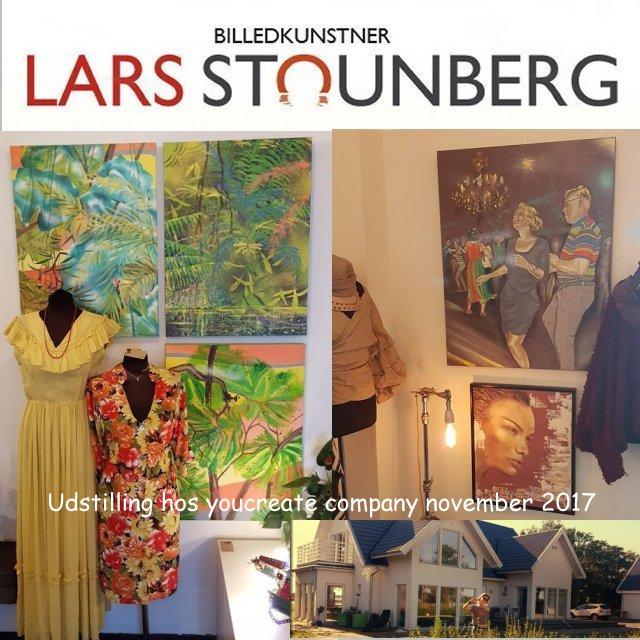 Udstilling malerier - Lars Stounberg 2017 hos YouCreate i Odder-området