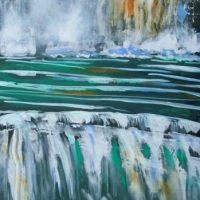 Maleri - Aqua - vandfald 2008 - Lars Stounberg