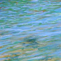 Havmaleri Stemning vandspejl - Billedkunstner Odder Lars Stounberg