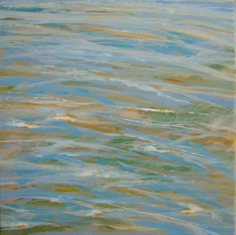 Havmaleri vandspejl - vandreflekser i havet 2012 - Billedkunstner Odder Lars Stounberg 2012